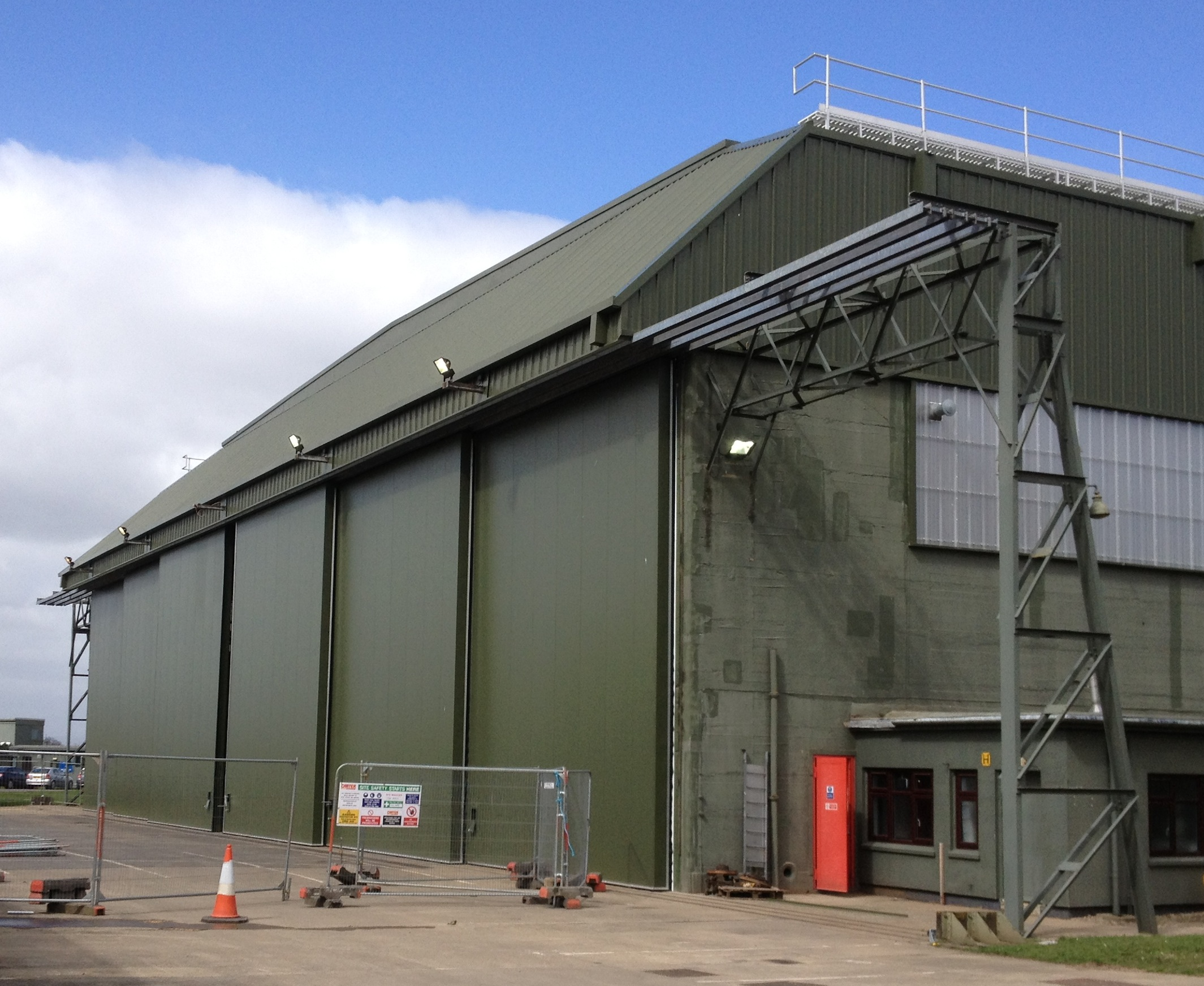 Hangar door types airport suppliers press release